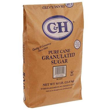 C & H® Granulated Sugar - 50 lb. bag