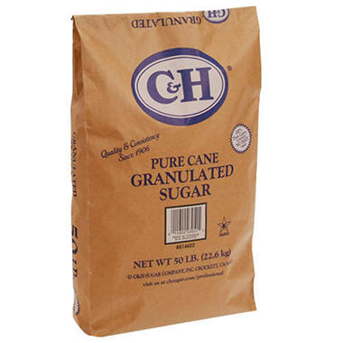 C & H® Granulated Sugar - 50 lb. bag