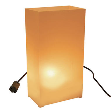 10-Count Electric Luminaria Kit - Tan/ Kraft