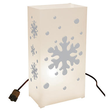 10-Count Electric Luminaria Kit - Snowflake