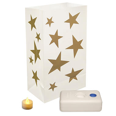 12-Count LumaBase LED Luminaria Kit - Stars