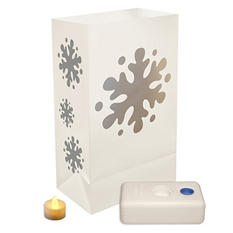 12 ct. LumaBase LED Luminaria Kit - Snowflake