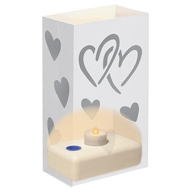 12 ct. LumaBase LED Luminaria Kit - Hearts