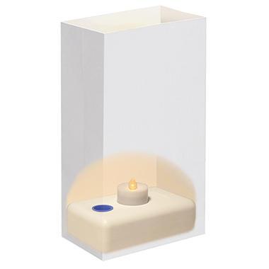 12 ct. LumaBase LED Luminaria Kit - Traditional White