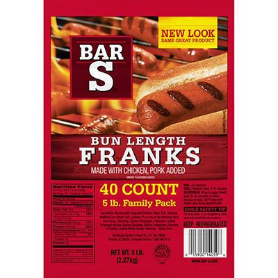 Bar-S® Franks - 5 lbs.