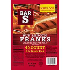 Bar-S Franks (5 lb.)