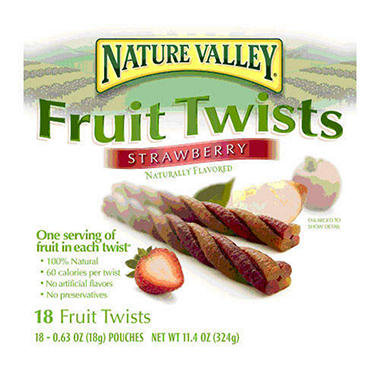 Nature Valley® Fruit Twists Strawberry - 18ct