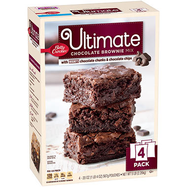 Betty Crocker Ultimate Chocolate Brownie Mix (20 oz. ea., 4 pk.)