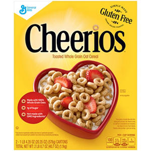 Cheerios Toasted Whole Grain Cereal (20.35 oz. box, 2 pk.)