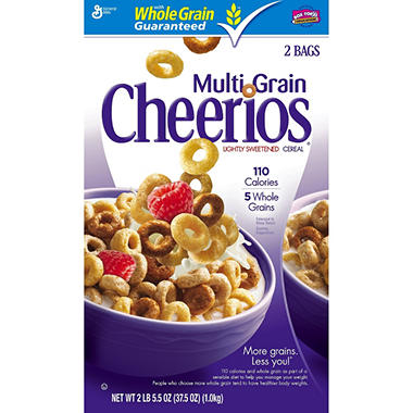 General Mills MultiGrain Cheerios 37.5oz Twin Pk