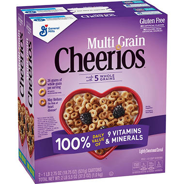 General Mills Multi-grain Cheerios (18.75 oz. box, 2 pk.)