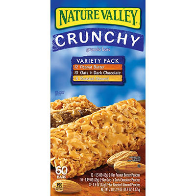 Nature Valley Crunchy Granola Bars Variety Pack - 30 ct.