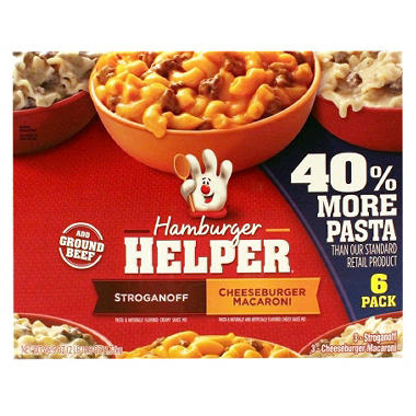 Hamburger Helper, Variety Pack (46.9 oz. pouch, 6 ct.)