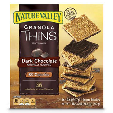 Nature Valley Dark Chocolate Granola Thins - 36ct