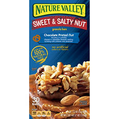 Nature Valley Sweet & Salty Chocolate Pretzel Nut Granola Bars (30 ct.)