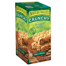 Nature Valley Oats 'n Honey Bars (2 bars/pk., 30 pks., Choose Box Quantity)