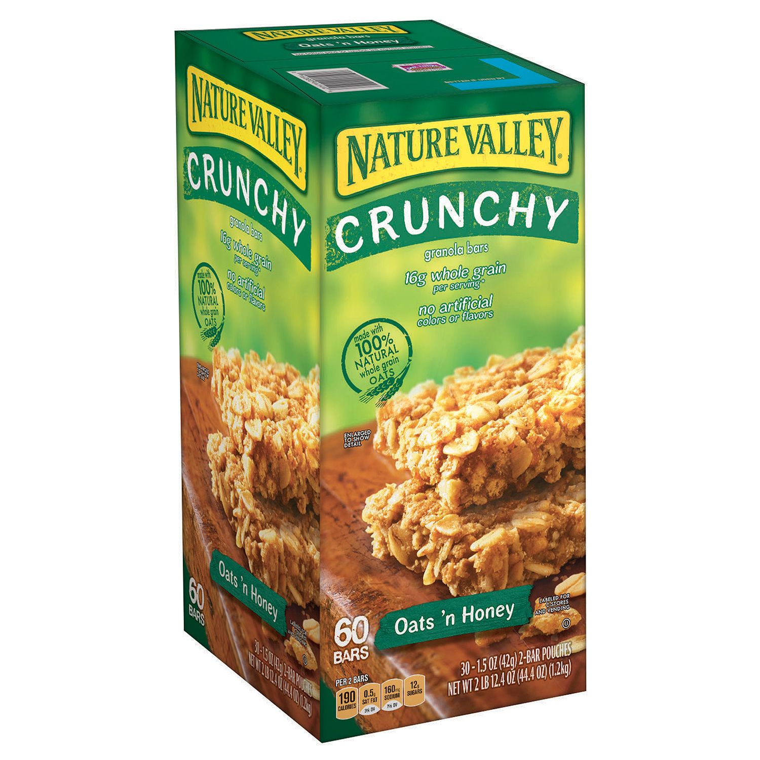 Details about Nature Valley Oats 'N Honey Crunchy Granola Bars 60ct