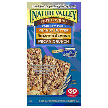 Nature Valley� Nut Lovers Variety Pack - 30 ct.