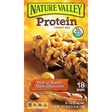 Nature Valley Peanut Butter Dark Chocolate Flavored Protein Bar - 18 ct.