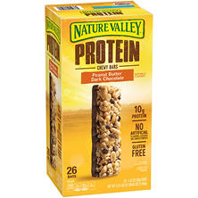 Nature Valley Protein Peanut Butter Dark Chocolate Gluten-free Chewy Bars (1.42 oz., 26 pk.)