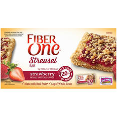 Fiber One Streusel Bar, Strawberry (20 bars)