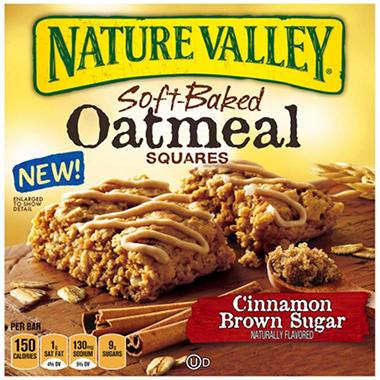 Nature Valley Oatmeal Squares, Cinnamon Brown Sugar  (22 ct.)