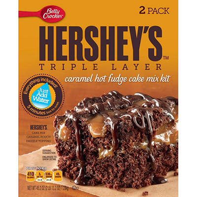 Betty Crocker - Hershey's Triple Layer Caramel Hot Fudge Cake Mix (45.25 oz., 2 pk.)
