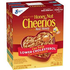 General Mills Honey Nut Cheerios Cereal (24 oz. box, 2 ct.)