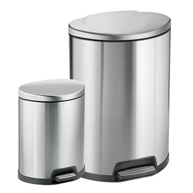 Tramontina Stainless Steel 2 pc. Step Can Combo