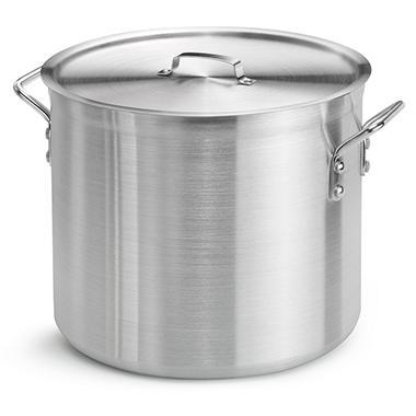 24 Qt. Aluminum Stock Pot with Lid