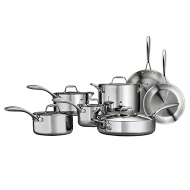 Tramontina Tri-Ply Clad Stainless Steel Cookware Set - 12 pcs.