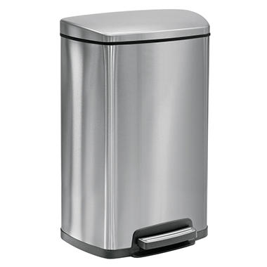 Tramontina Step Trash Can - 13 gal. - Stainless Steel