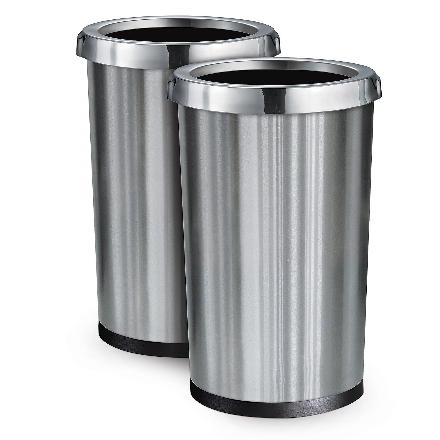 Industrial Garbage Containers : Pack stainless steel commercial home office trash bin