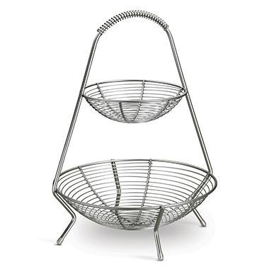Tramontina Stainless Steel 2 Tier Fruit Basket