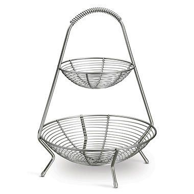 Tramontina Stainless Steel 2 Tier Fruit Basket