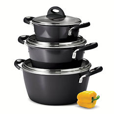 Tramontina 6-Piece Stackable Cookware Set - Assorted Colors