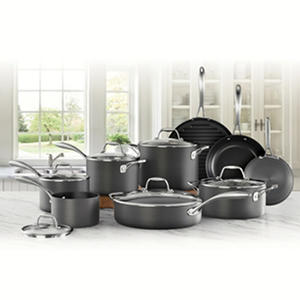 Member's Mark 15-Piece Hard Anodized - Nonstick Cookware Set