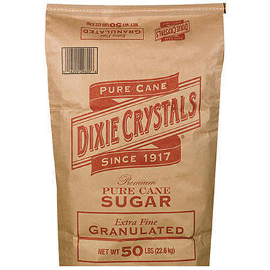 Dixie Crystals Pure Cane Extra Fine Sugar - 50 lb.
