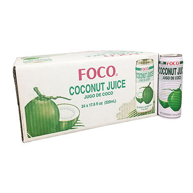 Foco® Coconut Juice - 24/17.6 oz. cans