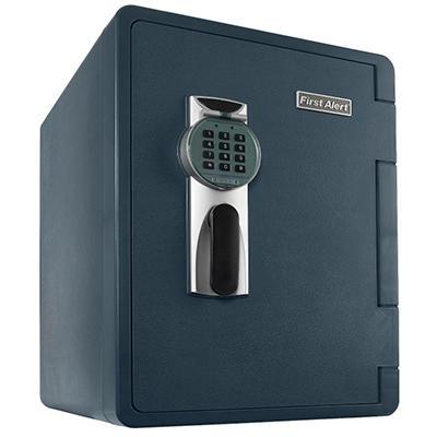 First Alert - 2096DF Waterproof Fire Safe with Digital Lock, 2.14 Cubic Foot, Gray