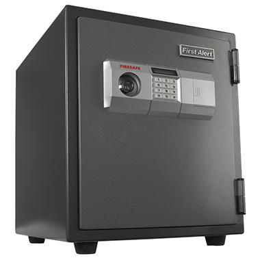 First Alert - 2118DF 1 Hour Fire Steel Safe with Digital Lock, 1.9 Cubic Foot, Gray