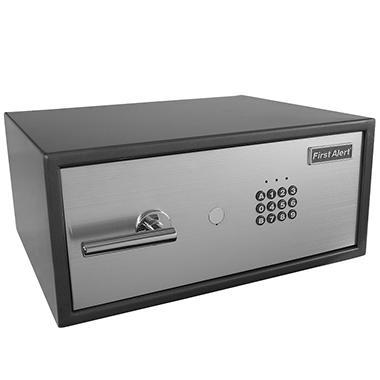 First Alert - 2062F Digital Anti-Theft Laptop Safe, 1.04 Cubic Feet, Gray/Silver