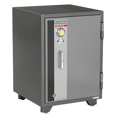 First Alert - 2190F 2 Hour Steel Fire Safe with Combination Lock, 2.02 Cubic Foot, Gray