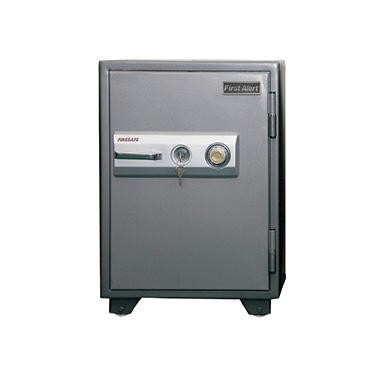 First Alert - 2575F 2-Hour Steel Fire Safe with Combination Lock, 2.77 Cubic Feet, Gray