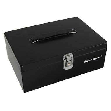 First Alert - 3020F Steel Cash Box, Black