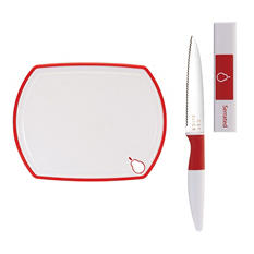 Crisp Paring Knife and Cutting Board, 2-Piece Set