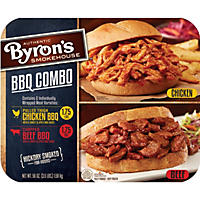 Byron's Smokehouse Pulled Chicken and Chopped Beef BBQ Combo (3.5 lbs.)