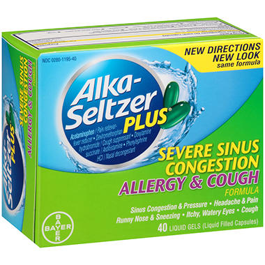 Alka-Seltzer Plus® Severe Sinus Congestion Allergy & Cough - 40 ct.