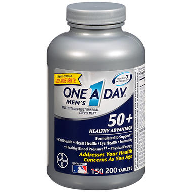 One A Day® Men's 50+ Advantage Multivitamin & Mineral Supplement - 200 ct