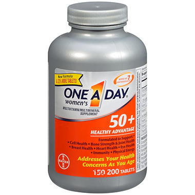 One A Day® Women's 50+ Healthy Advantage Multivitamin & Mineral Supplement - 200 ct